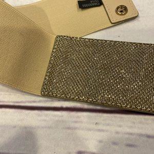 Express Sparkle Gold Elastic Belt ✨